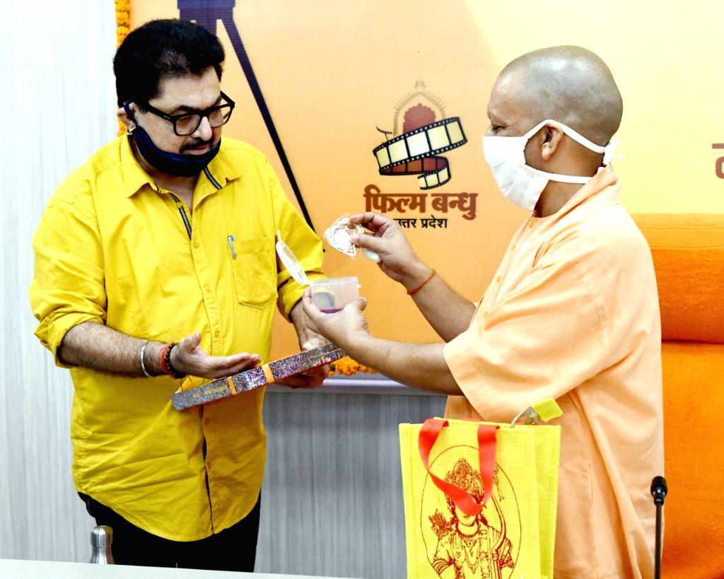CM Yogi Adityanath meets Bollywood celebs