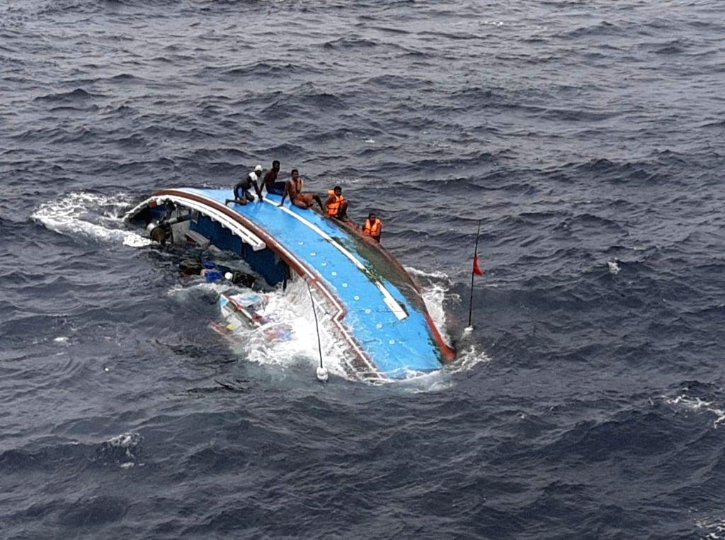 Coast Guard rescues 6 fishermen, repairs sinking boat . (Photo: IANS/DPRO)