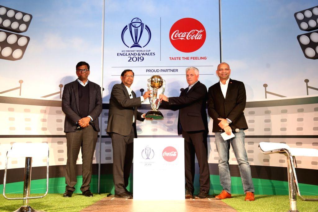 Coca-Cola India and South West Asia Vice President (Marketing) Vijay Parasuraman, President T. Krishnakumar, ICC Chief Executive David Richardson and Coca Cola VP Public Affairs, Communication and ...