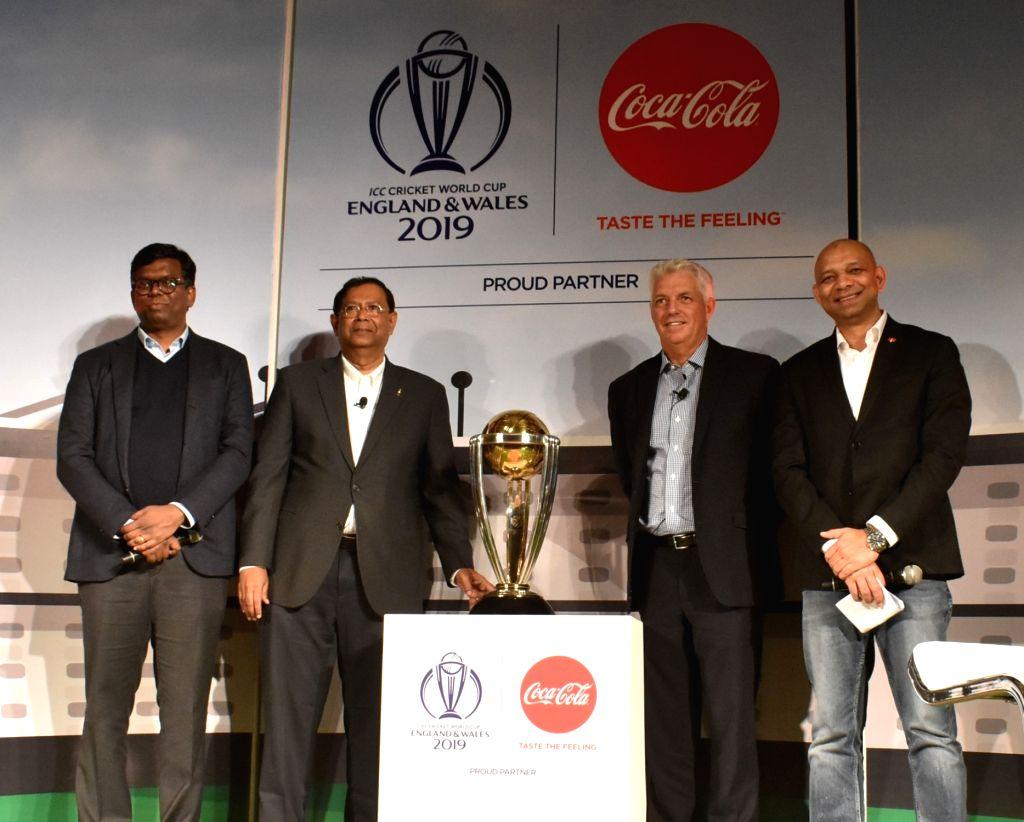 Coca-Cola India and South West Asia Vice President (Marketing) Vijay Parasuraman, President T. Krishnakumar, ICC Chief Executive David Richardson and Coca Cola VP Public Affairs, ...
