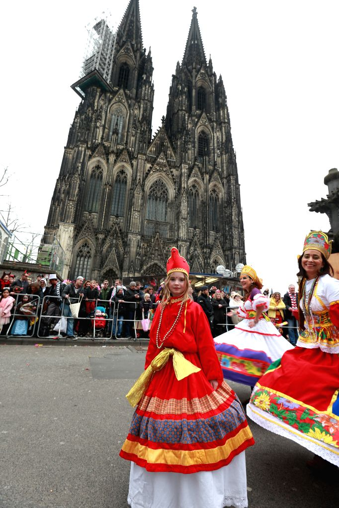 COLOGNE, Feb. 27, 2017 - Participants are seen during the street carnival in Cologne, Germany, Feb. 26, 2017. The week-long street festival kicked off on Thursday.