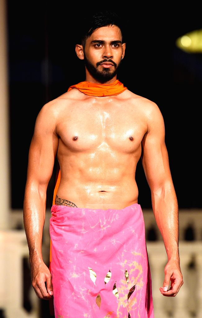 COLOMBO, Aug. 10, 2019 - A model presents a creation at the Olu Swim Week in Colombo, Sri Lanka, on Aug. 9, 2019. Swimwear and resort wear collections were showcased during the fashion week here.