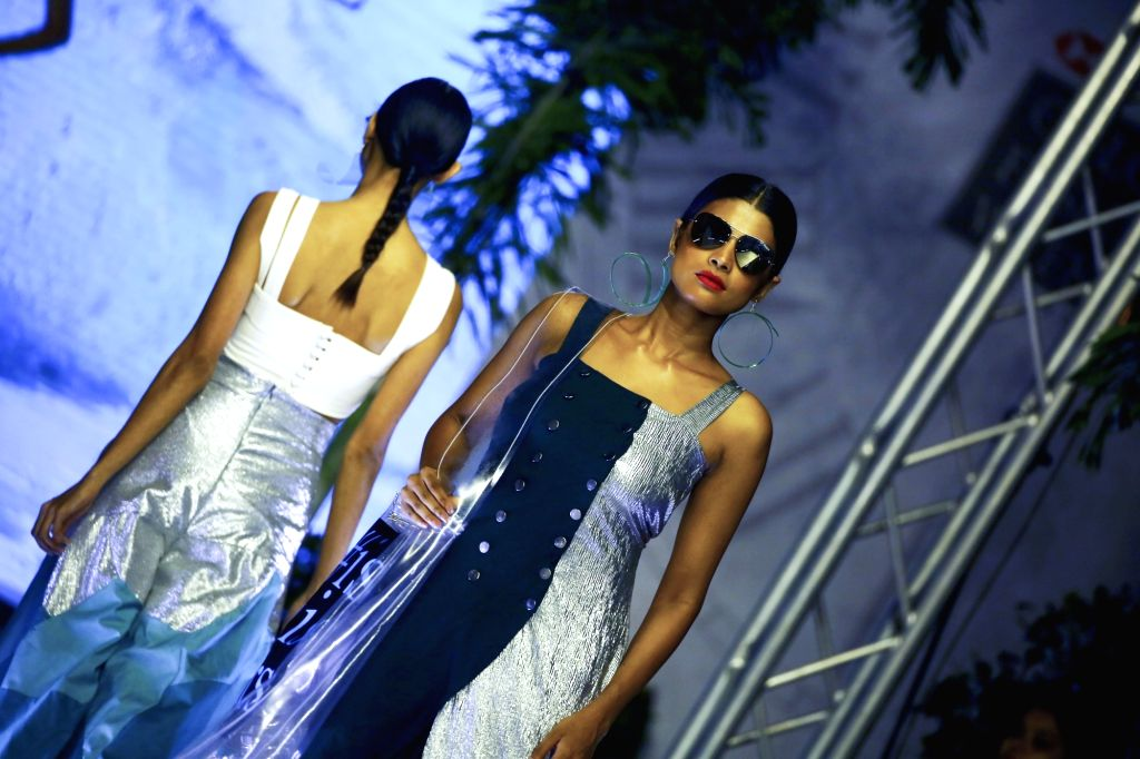 COLOMBO, Feb. 28, 2019 - Models present creations at the annual Colombo Fashion Week in Colombo, Sri Lanka, Feb. 27, 2019.