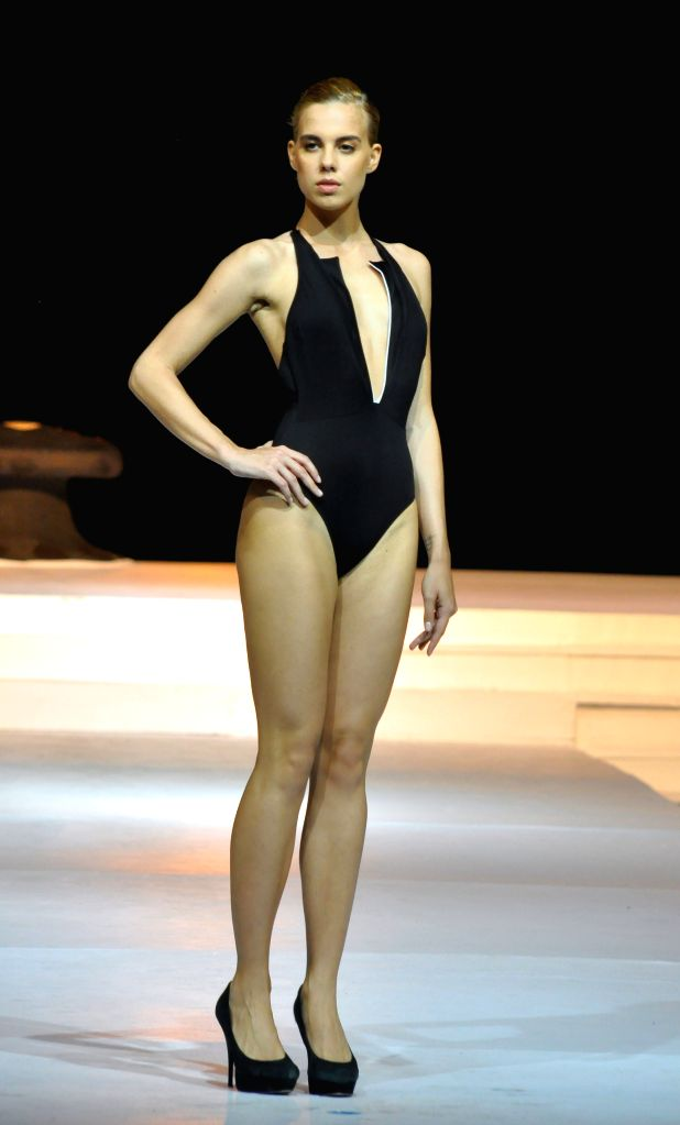 COLOMBO, June 25, 2016 - A model presents a creation during the Swim Week Colombo in Colombo, Sri Lanka, June 25, 2016. The two-day Swim Week Colombo 2017, which began on Friday, has showcased the ...