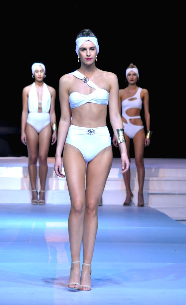 COLOMBO, June 25, 2016 - Models present creations during the Swim Week Colombo in Colombo, Sri Lanka, June 25, 2016. The two-day Swim Week Colombo 2017, which began on Friday, has showcased the ...
