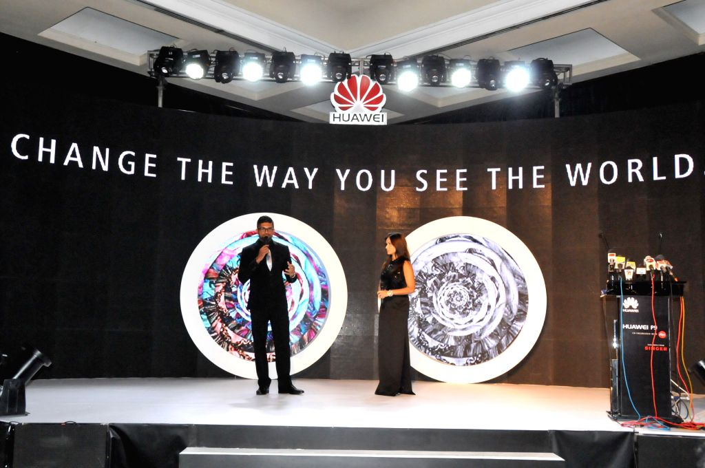 COLOMBO, June 25, 2016 - Photo taken on June 24, 2016 shows Huawei's launch conference in Colombo, Sri Lanka. Huawei launched the P9 and P9 lite smartphone at a gala event held in Colombo, Sri Lanka ...