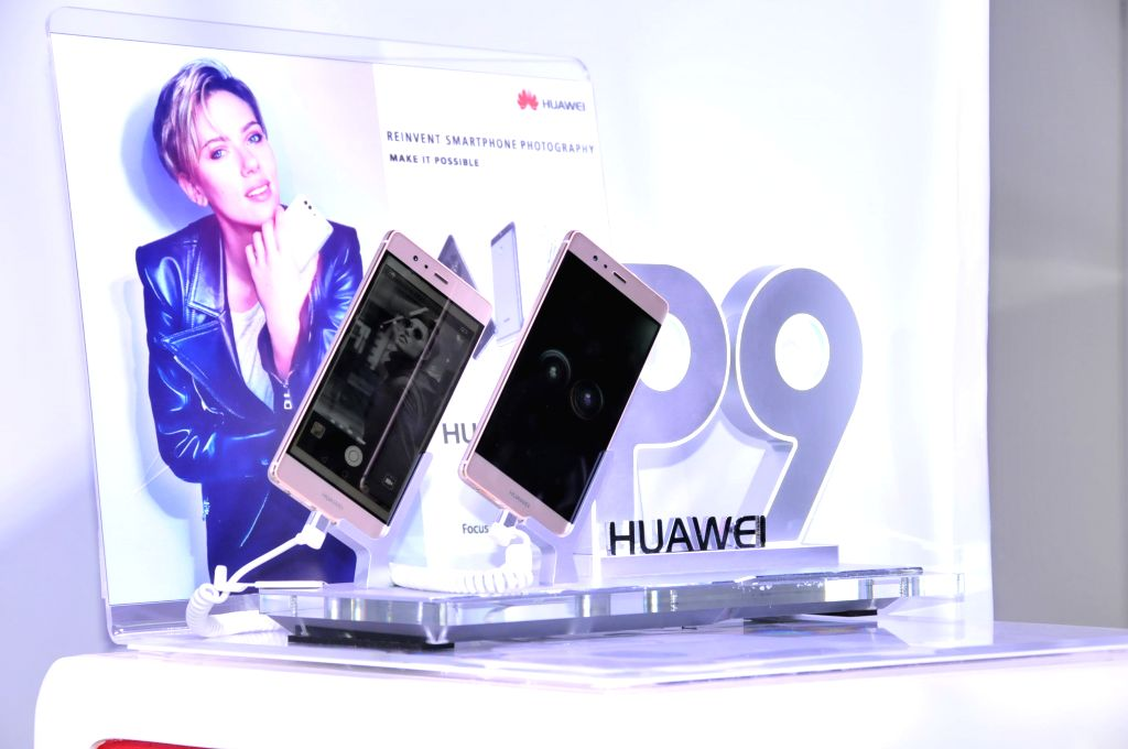 COLOMBO, June 25, 2016 - Photo taken on June 24, 2016 shows P9 and P9 lite at the launch conference in Colombo, Sri Lanka. Huawei launched the P9 and P9 lite smartphone at a gala event held in ...