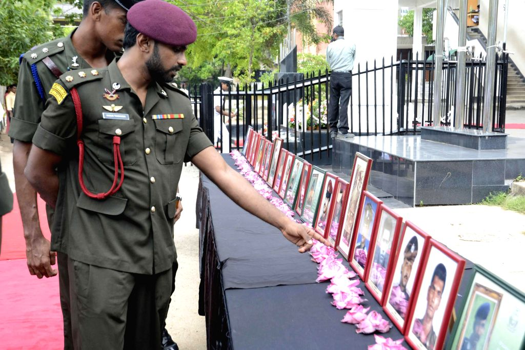 Officers attend a ceremony marking Sri Lanka's D.S. Senanayake College's 20th Annual Ranaviru Day at the college premises in Colombo, Sri Lanka, March 19, 2015. ...