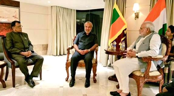 Muslim Congress leaders of Sri Lanka meets the Prime Minister Narendra Modi to discuss the development cooperation opportunities, in Colombo Sri Lanka on March 14, 2015. - Narendra Modi