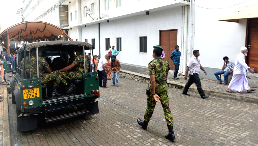 COLOMBO, Nov. 1, 2018 - Sri Lankan Police Special Task Force leave the Prime Minister's official residence in Colombo, Sri Lanka, Nov. 1, 2018. Sri Lanka's new Prime Minister, Mahinda Rajapakse, on ...