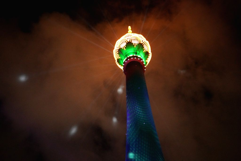 Colombo's Lotus Tower honours front-line workers