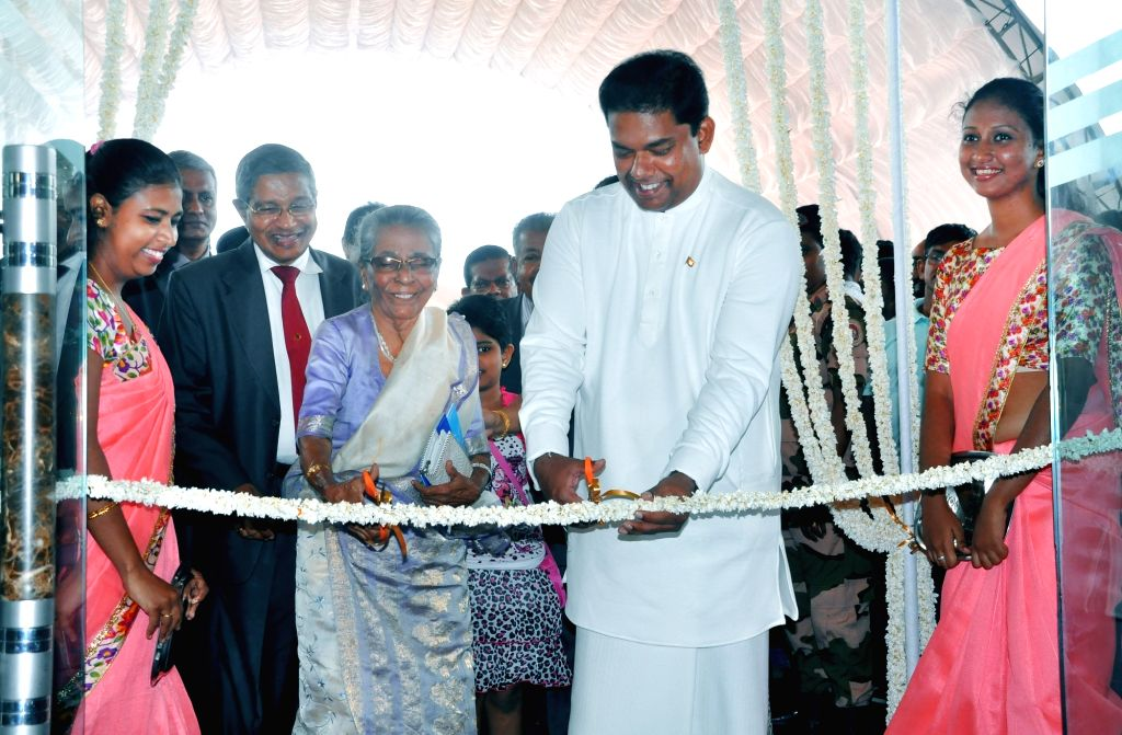 COLOMBO, Sept. 17, 2016 - Gayantha Karunathilaka (2nd R), Sri Lanka's minister of parliamentary reform and mass media, cuts the ribbon for the opening ceremony of the 18th Colombo International Book ...