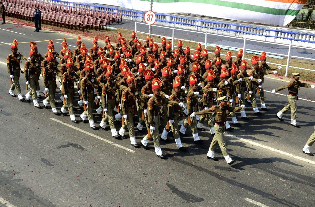 Colourful R-Day parade in Kolkata. (Photo: Kuntal Chakrabarty/IANS)