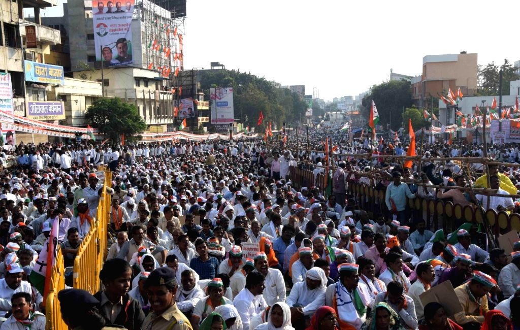 Combined 'Halla Bol' anti-govt procession-cum-rally of all major opposition parties including Congress, NCP and others held in Nagpur on Tuesday, led by NCP President Sharad Pawar.