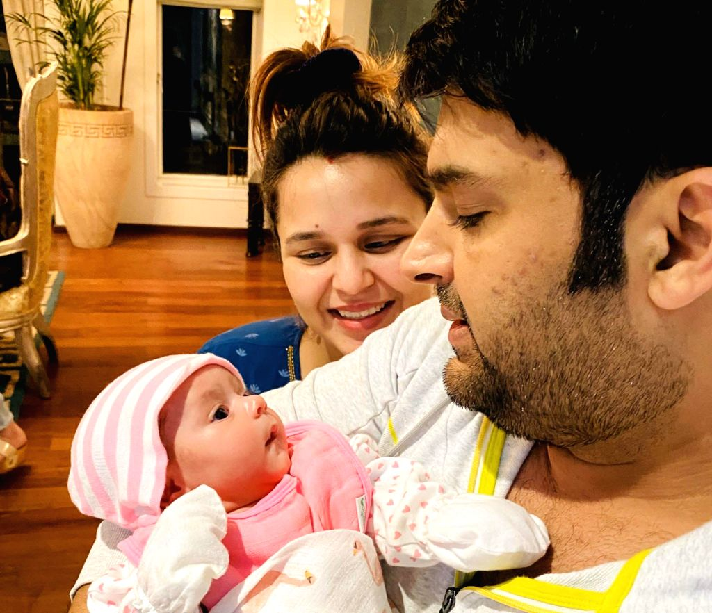 Comedian and actor Kapil Sharma and wife Ginni Chatrath's one-month-old daughter, whom they have fondly named Anayra, has made her Twitter debut. - Kapil Sharma