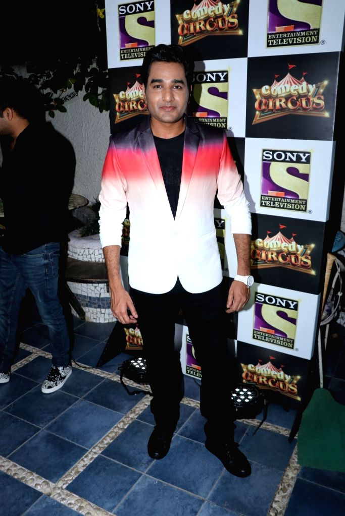 """Comedian Mubeen Saudagar at the launch of the new season of reality television comedy show """"Comedy Circus"""", in Mumbai on Sept 15, 2018."""