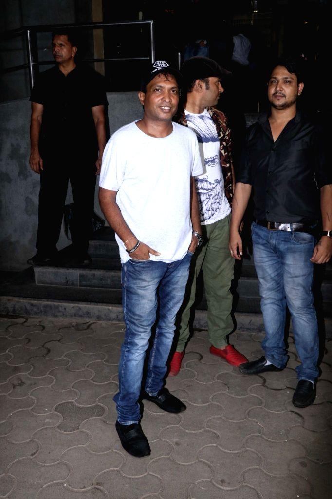 "Comedian Sunil Pal at the screening of the upcoming film ""Khandaani Shafakhana"", in Mumbai on Aug 2, 2019."