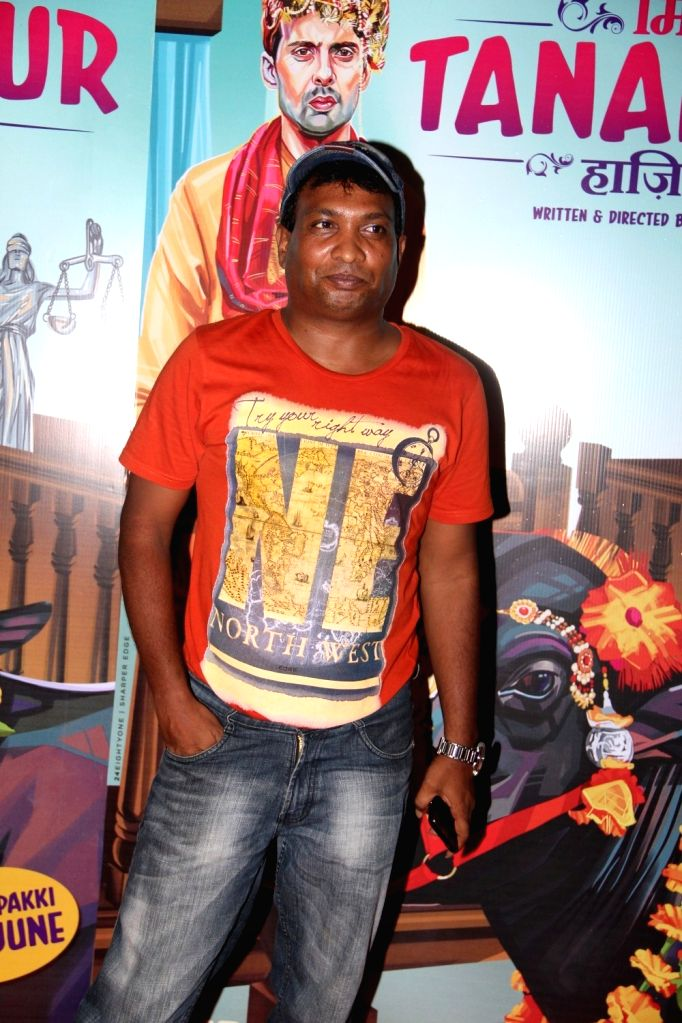 Comedian Sunil Pal during the special screening of film Miss Tanakpur Haazir Ho in Mumbai on June 25, 2015.