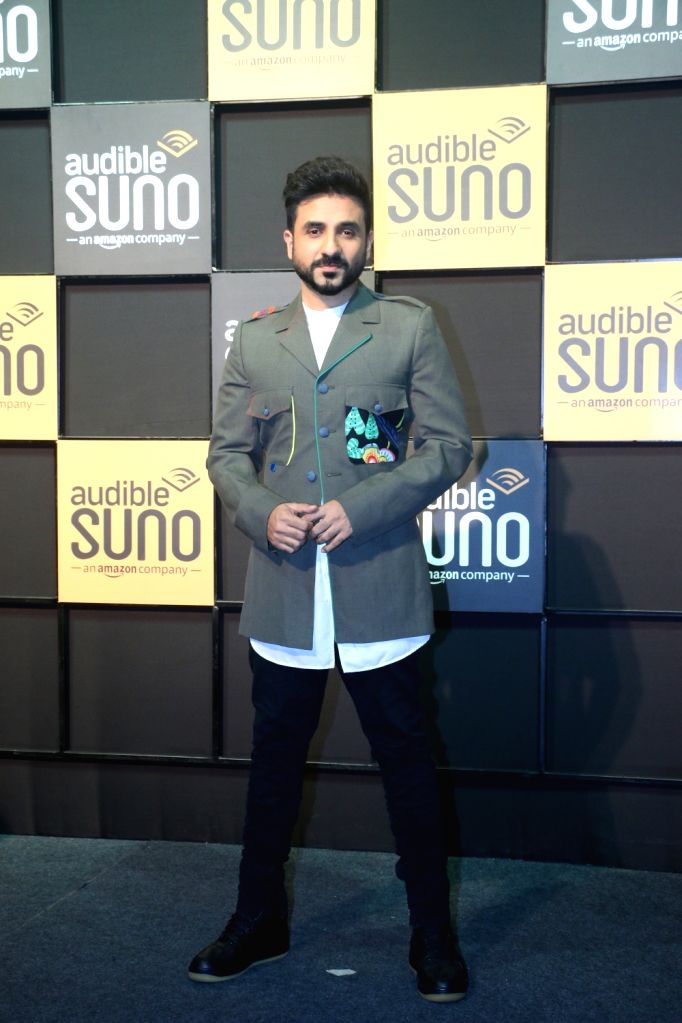 "Comedian Vir Das at the launch of ""Audible Suno"" app in Mumbai on Dec 12, 2019."