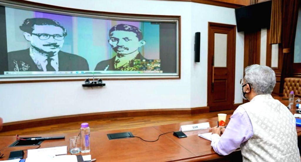 Commemorating the historic Mujib Barsho and 150 years of Mahatma Gandhi, External Affairs Minister S. Jaishankar announced the 'Bangabandhu-Bapu Digital Museum', in New Delhi on Sep 29, ... - S. Jaishankar