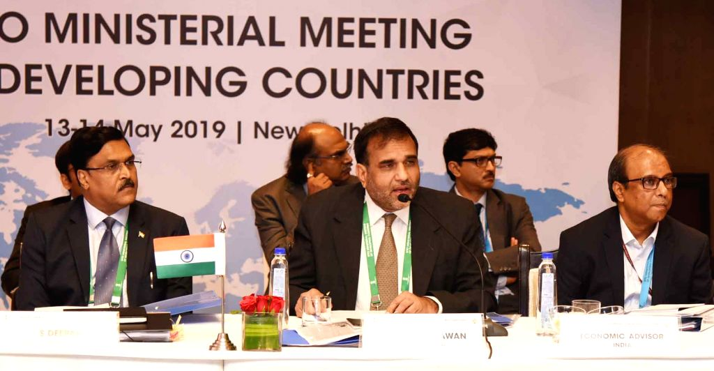 Commerce Secretary Anup Wadhawan chairs the World Trade Organization (WTO) Senior Officers Meeting of Developing Countries, in New Delhi on May 13, 2019.