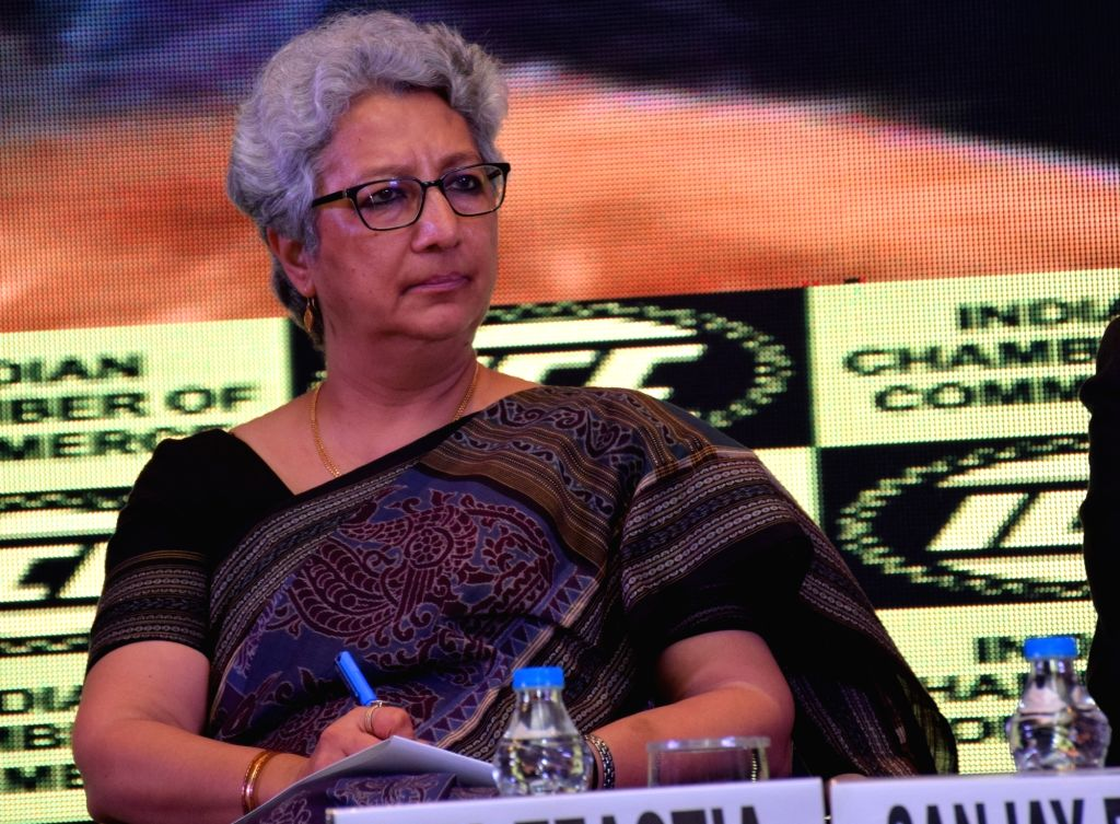 Commerce Secretary Rita Teaotia during a Special Interactive Session organised by Indian Chamber Of Commerce in Kolkata on July 19, 2018.