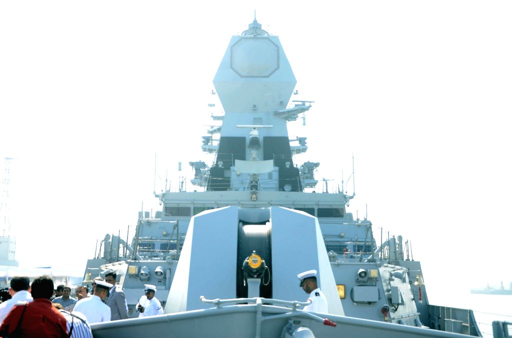 Commissioning ceremony of INS Chennai, a guided missile destroyer at Naval Dockyard in Mumbai on Nov. 21, 2016. INS Chennai will be placed under the operational and administrative control of ...