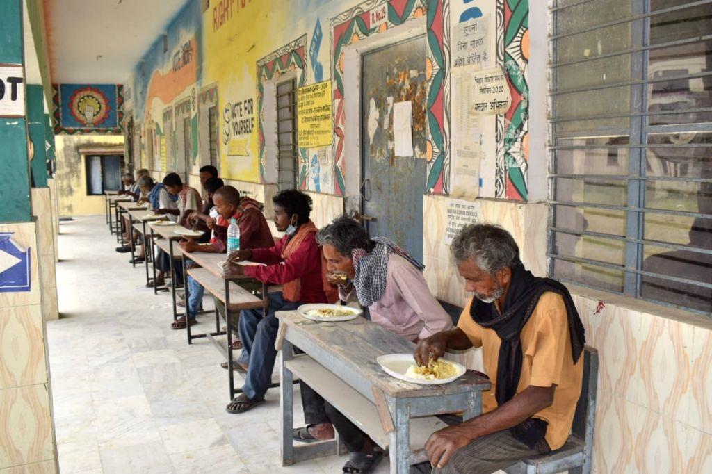 Community kitchens feeding poor people in lockdown.