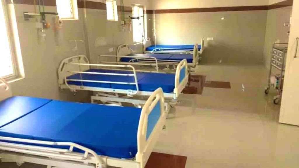 Completely refurbished and exclusive 350 bed hospital for COVID-19 (Coronavirus) patients at King Koti, Hyderabad.