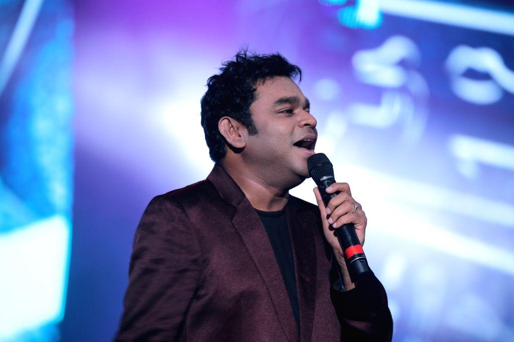 Composer A. R. Rahman during the Global Citizen Festival India 2016, in Mumbai on Nov 19, 2016.