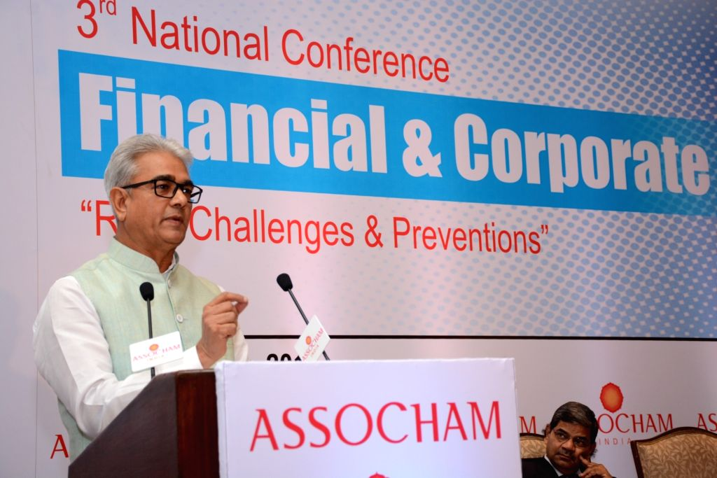 Comptroller and Auditor General of India (CAG) Shashi Kant Sharma addresses an ASSOCHAM 3rd National Conference on Financial and Corporate Frauds in New Delhi on July 1, 2016. - Shashi Kant Sharma