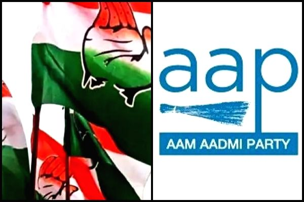 congress and aam aadmi party.