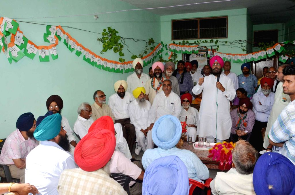 Congress candidate Partap Singh Bajwa during an election campaign in Gurdaspur on April 19, 2014.