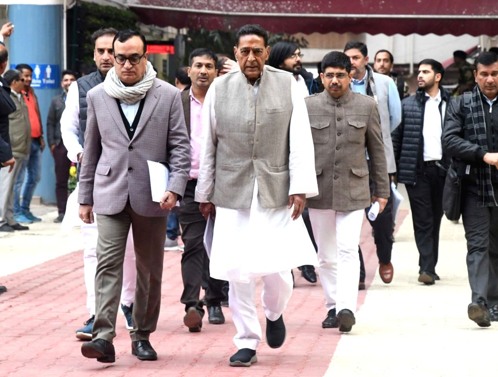 Congress delegation led by party leaders Ajay Maken and Subhash Chopra arrive after meeting the Election Commission and submitting a complaint against BJP leaders', including Minister of ... - Subhash Chopra