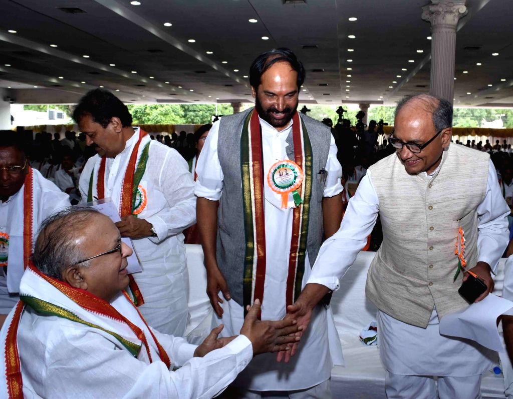 Congress General Secretary Digvijaya Singh during the inauguration of party's workers meet in Secunderabad on Sept 19, 2016.