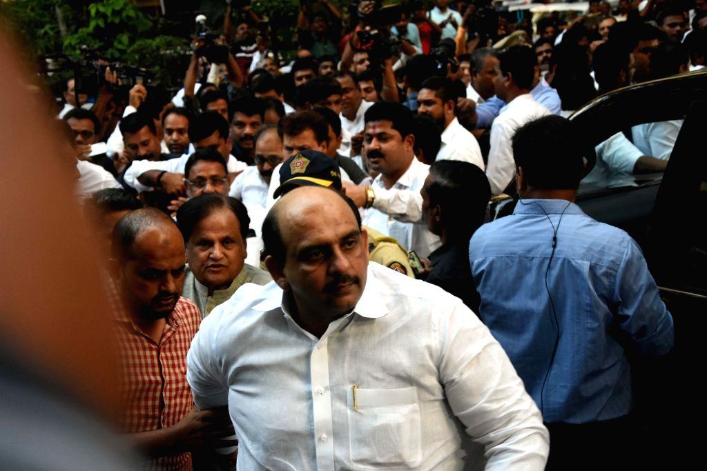Congress leader Ahmed Patel arrives to meet NCP chief Sharad Pawar at Yashwantrao Chavan Centre in Mumbai on Nov 12, 2019. - Ahmed Patel