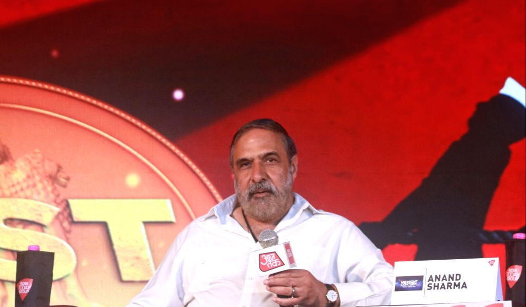 Congress leader Anand Sharma addresses during India Today's Midnight Conclave on GST in New Delhi, on June 30, 2017. - Anand Sharma
