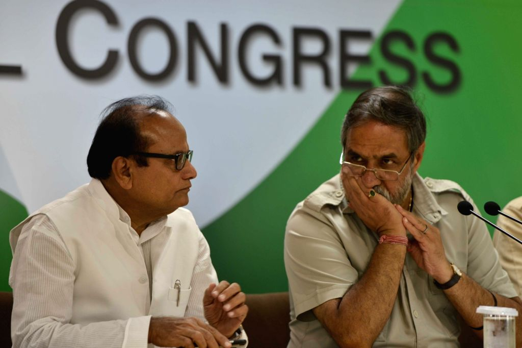 Congress leader Anand Sharma addresses during a press conference in New Delhi on Sept 12, 2017. - Anand Sharma