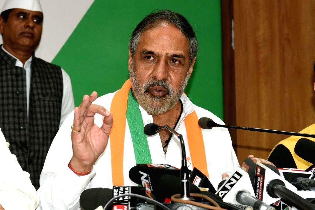 Congress leader Anand Sharma. (Photo: Ravi Shankar Vyas/IANS) - Anand Sharma