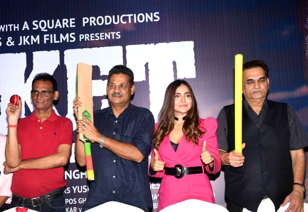"""Congress leader and former cricketer Kirti Azad during the promotions of the upcoming film """"Kirket"""" based on his story, in Patna on Oct 10, 2019."""