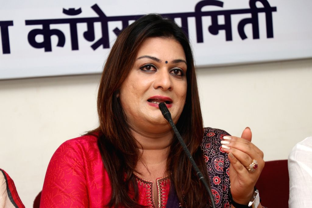 Congress leader Apsara Reddy addresses a press conference in Panaji on March 7, 2019. - Apsara Reddy