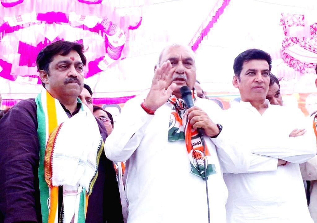 Congress leader Bhupinder Singh Hooda during election campaign in New Delhi on April 30, 2019. - Bhupinder Singh Hooda