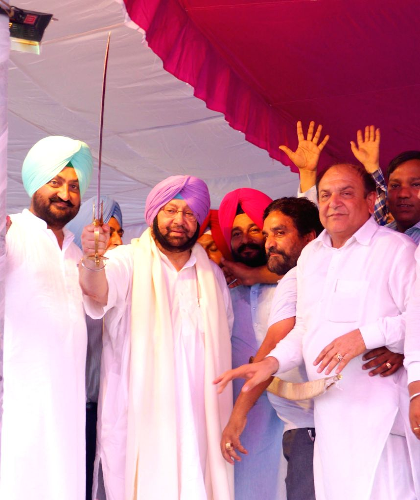 Congress leader Captain Amarinder Singh during a party programme near Bathinda on Aug 4, 2015. - Amarinder Singh