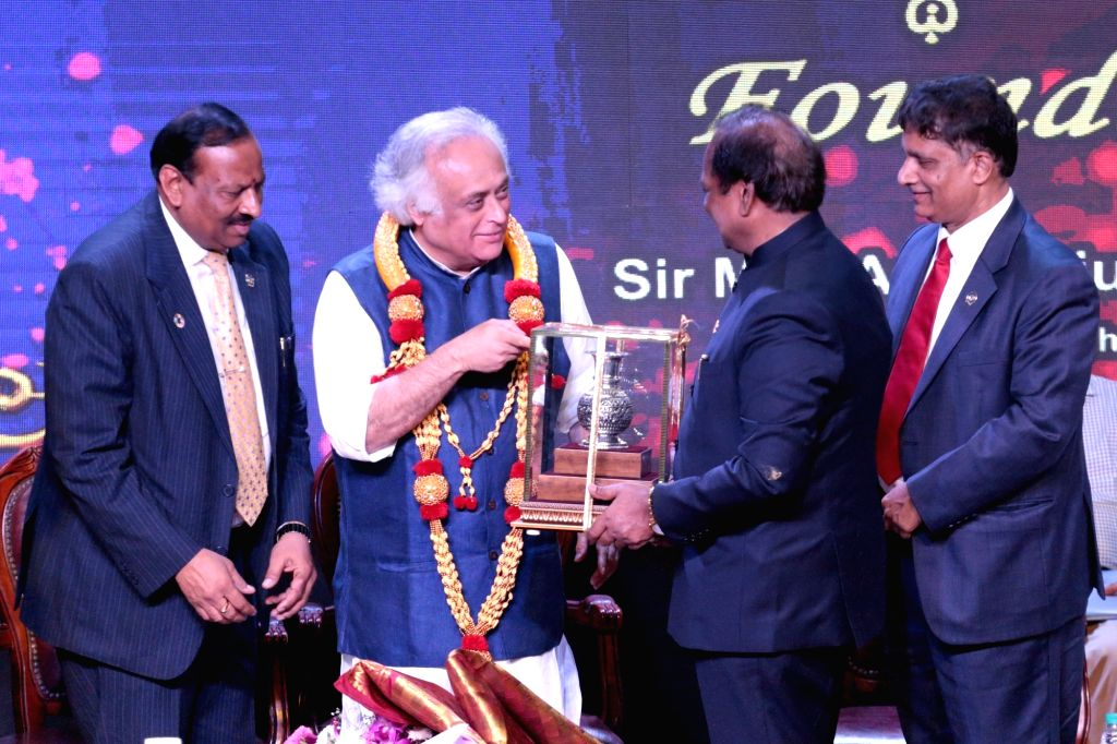 Congress leader Jairam Ramesh during FKCCI Founders Day programme organised by FKCCI, in Bengaluru on Sep 15, 2019.