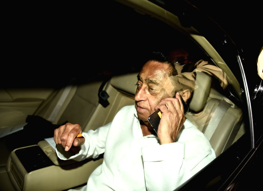 Congress leader Kamal Nath arrives at Rahul Gandhi's residence in New Delhi on Dec 13, 2018. - Kamal Nath and Rahul Gandhi