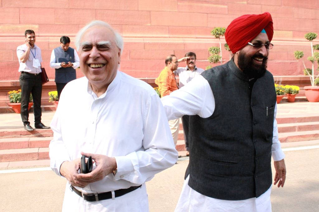 Congress leader Kapil Sibal at the Parliament on Nov 21, 2016.