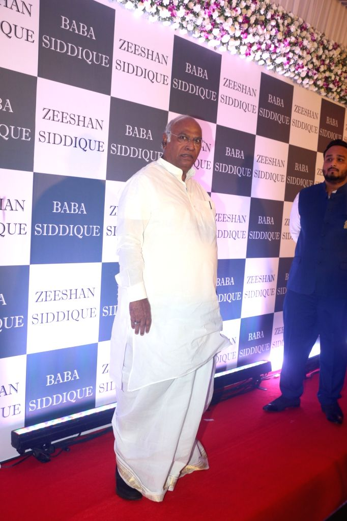 Congress leader M. Mallikarjun Kharge at party leader Baba Siddique's Iftar party in Mumbai, on June 2, 2019.
