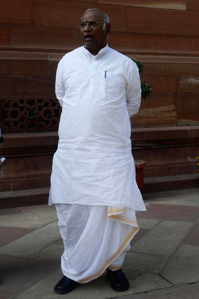 Congress leader Mallikarjun Kharge at the Parliament on Nov 21, 2016.