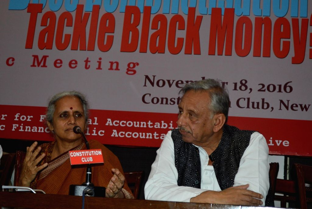 Congress leader Mani Shankar Aiyar during a public meeting on the 'Impact of Demonetisation on Black Money' in New Delhi on Nov 18, 2016.