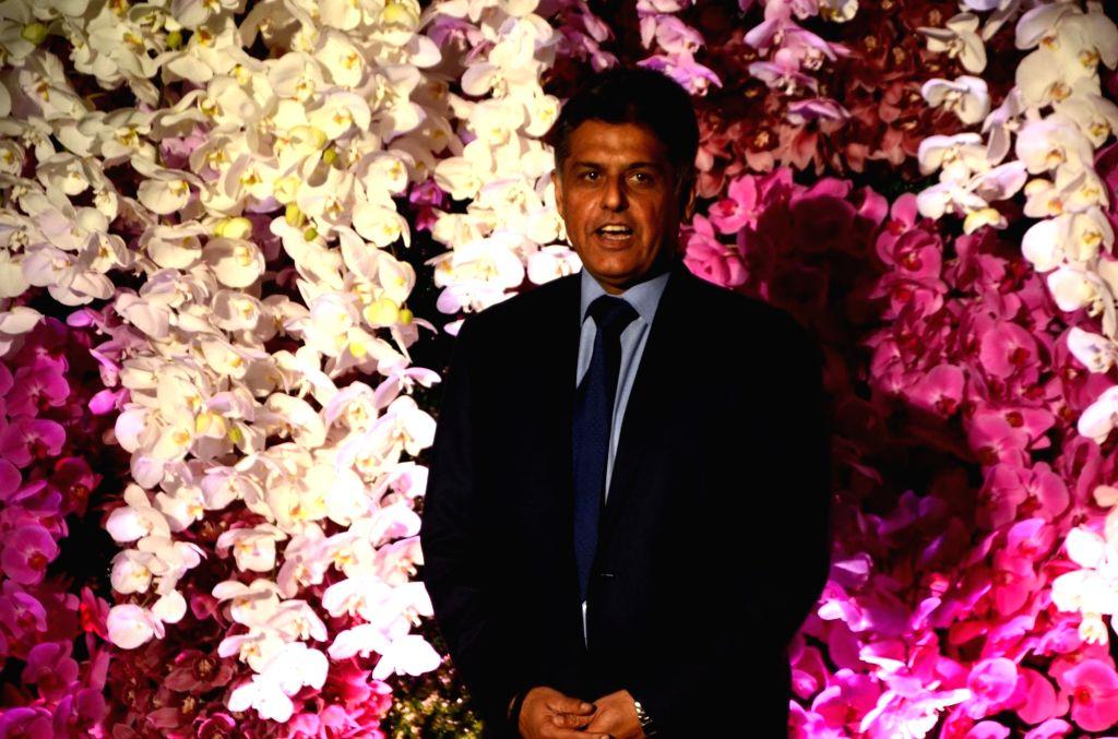 Congress leader Manish Tewari at the wedding reception of Akash Ambani and Shloka Mehta in Mumbai, on March 10, 2019. - Akash Ambani and Shloka Mehta